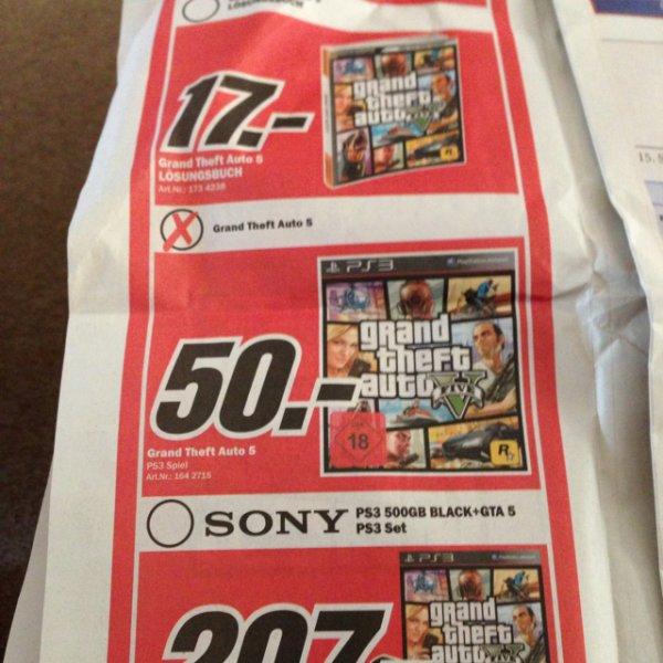 GTA 5 PS3 50€!!! (lokal MediaMärkte Rostock)