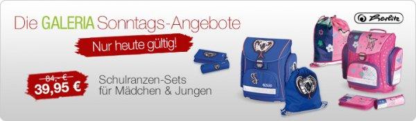 Galeria Kaufhof nur Online  - Herlitz Honeysweet Schul Ranzen-Set 4-teilig für 35,95€ inkl. Versand nur Heute 15.09.2013