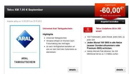 Telco All-in XM – 100 Min +100SMS + 300MB Vodafone-Netz für effektiv 6,28€/Monat