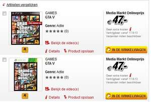 [Lokal] GTA V PS3 + XBOX 360 Media Markt Niederlande zb Roermond