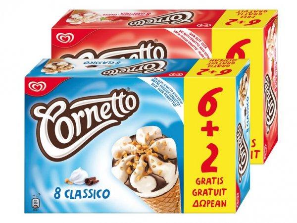 [Lidl] 6+2 Langnese Cornetto Eis für 1.99€