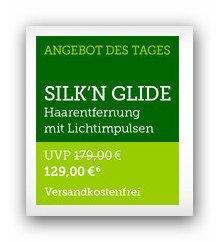 b4f Angebot des Tages: Silk'n Glide für 129€ - Dauerhafte Haarentfernung durch Hochenergie-Lichtimpulse - 50.000 Lichtimpulse