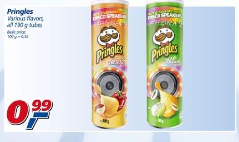 Real in Wiesbaden & Kaiserslautern : alle Pringles 190 gr Dosen 0,99 € [ab Montag den 16.09.2013 bis 21.09.2013]