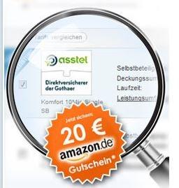 Privathaftpflicht für 7,81 Euro im Jahr durch 20 Euro Amazon Gutschein bei Online Abschluss
