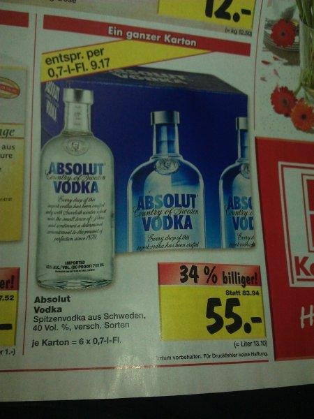 [ lokal:Berlin ahrensfelde u. Biesdorf] 6x Absolut vodka