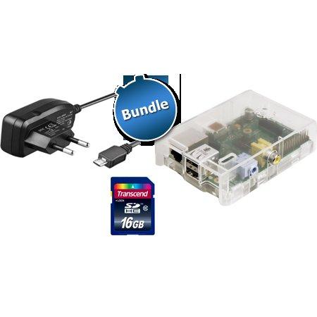 Raspberry Pi Model B (512MB) inkl. Gehäuse, Netzteil, 16 GB SDHC bei ZackZack