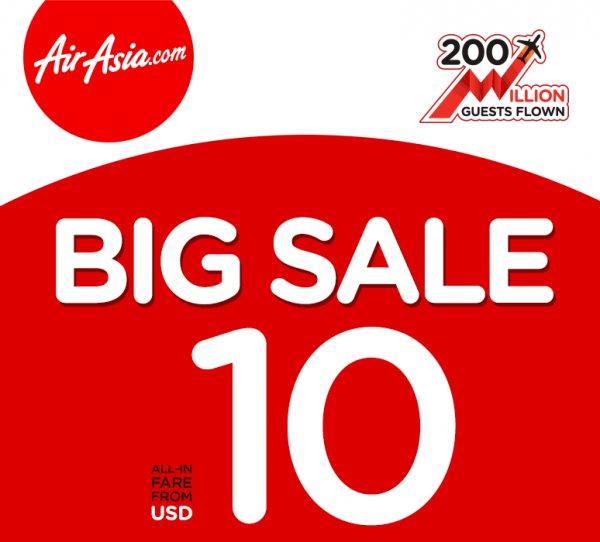 Air Asia Sale: Billige Flüge in Asien (z.B. Inlandsflüge Thailand) / Preise ab 10$