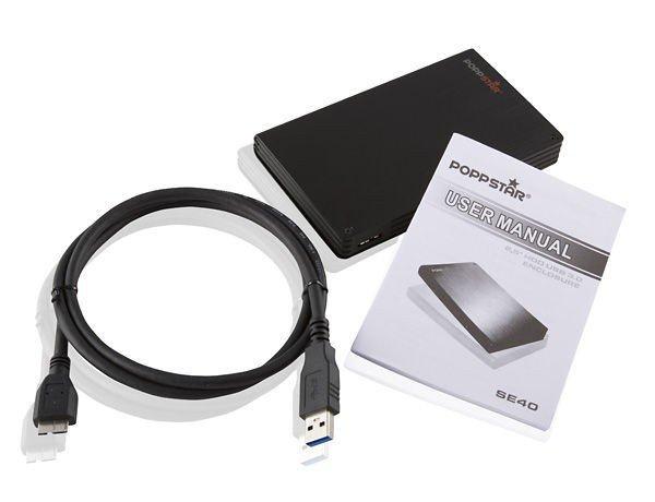 1000 GB EXTERNE FESTPLATTE POPPSTAR SE40 USB 3.0