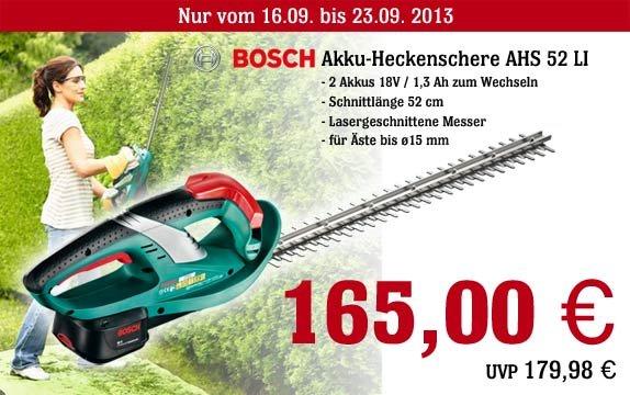 Bosch Akku-Heckenschere AHS 52 LI mit 2 Akkus für 165Euro