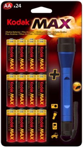 24 x Kodak AA Batterien plus 1W LED-Taschenlampe