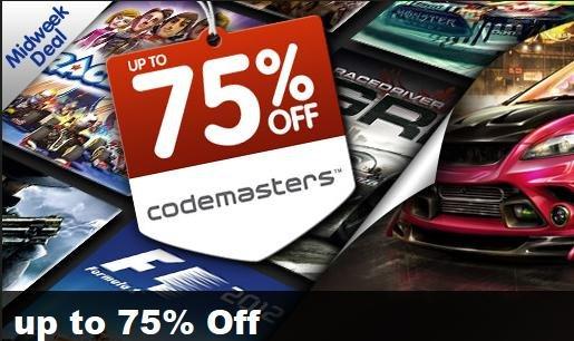[Steam] Codemasters -75% @greenmangaming
