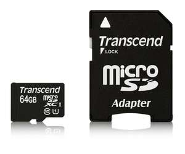 64GB Transcend Premium Class 10 microSDXC Speicherkarte mit SD-Adapter für 40€ @Amazon