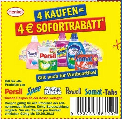 Henkel Cashback Aktion (4 Produkte = 4€ Cashback)