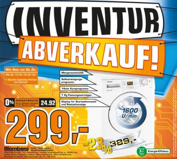 [Local Göttingen Saturn] Waschmaschine Blomberg WNF 7462 WE 20 für 299 €