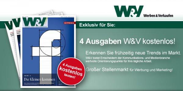 Werben & Verkaufen Kurzabo - 4 Ausgaben kostenlos - Kündigung notwenig