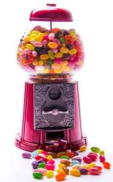 Kaugummiautomat für Jelly Belly Nüsse M&Ms + 3000g american Jelly Beans Sparset
