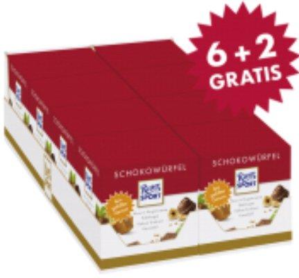 8x Ritter Sport Schokowürfelboxen für nur 13,74€ inklusive Versand statt 18,32€ direkt vom Hersteller