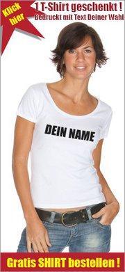 [Facebook] Kostenloses Shirt mit eigenem Namen gegen Backlink