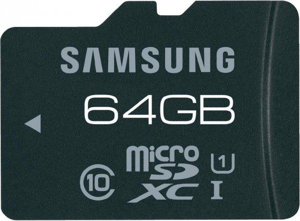 Samsung microSDXC Karte Pro 64GB Class 10 UHS-I für 41,36€ @Voelkner