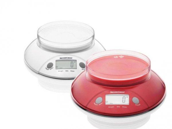 Silvercrest Küchenwaage in rot und weiß für 5,99€ zzgl. 4,95€ Versand @Lidl Online