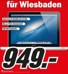 "[Local Wiesbaden Mediamarkt] Macbook Pro MD 101 D/A 13,3"" für 949 €"
