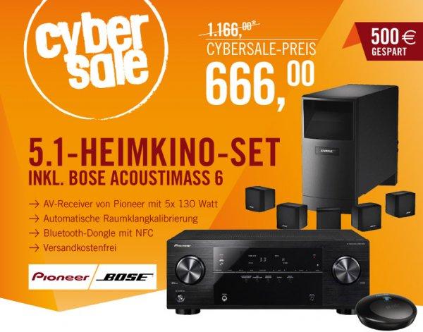 Pioneer/Bose-Set VSX-422 AV-Receiver mit Bluetooth / NFC + Bose Acoustimass 6 für 666€