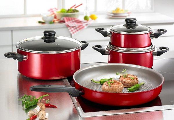 [eBay] Beem Inducto Kochtopf Set 7-tlg. mit Pfanne in Rot oder Lila // Idealo 64€