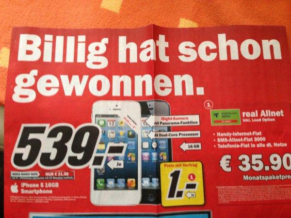 Media Markt [Lokal NRW ?] iPhone 5 für 539€