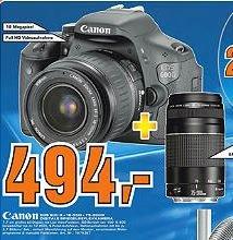 [Saturn Hamburg] Canon EOS 600D Kit mit 18-55III+75-300III nur 494€