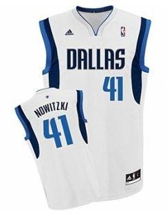 [Rakuten] adidas - NBA Dallas Mavericks Nowitzki Trikot weiß
