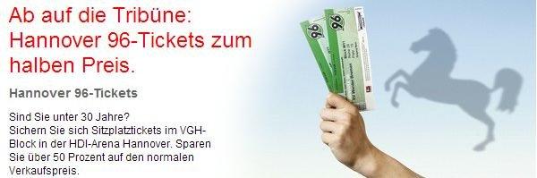 Bis zu 2 Tickets für ein Bundesligaspiel in der HDI Arena (H96) per Sparkasse Hildesheim Onlinebanking