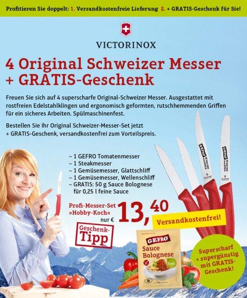[Gefro] Victorinox 4 Messerset + 50g Bolognese Sauce