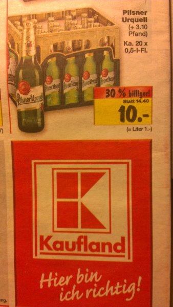 [Kaufland] Pilsner Urquell 20x0,5l Kasten für 10 Euro