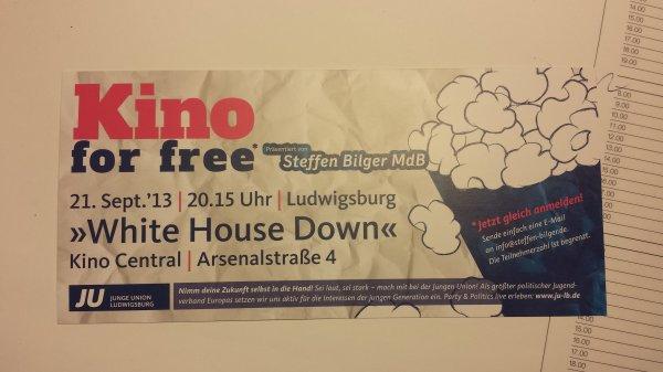 [Lokal] Ludwigsburg 'Kino for free' >White House Down