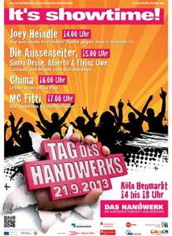 Köln - Heumarkt: gratis Konzerte  Joey Heindle, Chima, Die Aussenseiter & MC Fitti - 21.9 ab 14 Uhr