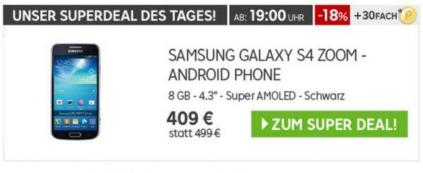 SAMSUNG GALAXY S4 ZOOM 8GB Schwarz @ rakuten.de | effektiv: 286,30€