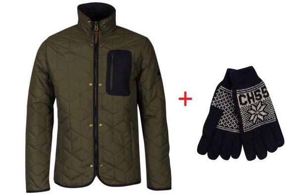 Boxfresh Men's Bristols Quilted Jacket + gratis Handschuhe @ thehut
