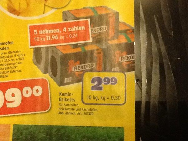 [Bundesweit] 50kg Rekord Kaminbriketts nur noch 24 Cent/kg @ MaxBahr