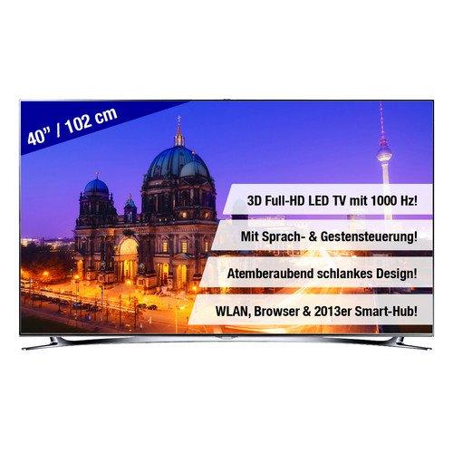 MacTV Samsung UE40F8000 40 Zoll 102cm 3D Full-HD LED Smart TV Fernseher, 40F8000 EEK A @ebayWOW für 1k€