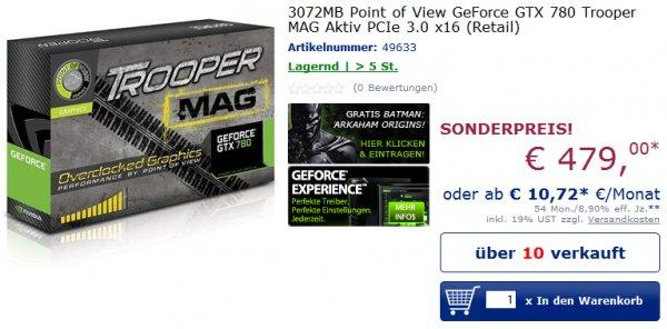 PoV GTX 780 Trooper MAG günstig bei Mindfactory.de
