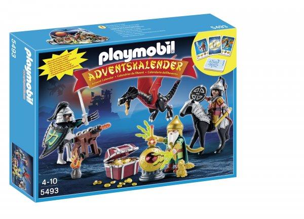 """Adventskalender PLAYMOBIL® 5493 """"Kampf um den Drachenschatz"""" + Drachen-Kartenspiel für nur 14,99 EUR inkl. Versand"""