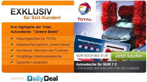 """Total Autowäsche """"Unsere Beste"""" bei DailyDeal für 7,-"""
