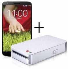 LG G2 + LG PD233 Pocket Photo Drucker für 520,72