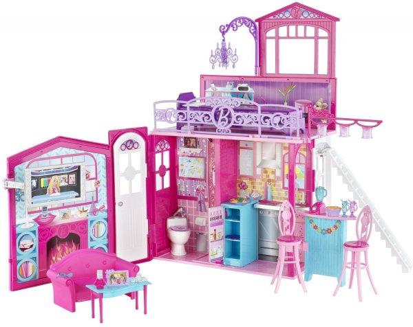 Mattel- Barbie Glam Haus, zusammenklappbar, mit Zubehör für 27,47€ inkl.Versand @Amazon.fr