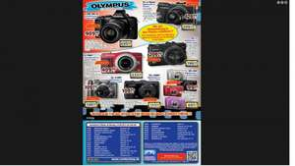 center SHOP viele Olympus Angebote z.B. E-M5 0M-D für 699,-   XZ-2 für 299,-   E-PM2 für 333,- und und und