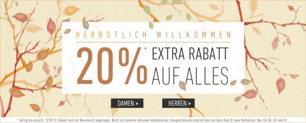 "Nur Heute ! Extra Rabatt 20%  auf alles bei ""dress-for-less""  +10% Newsletter"