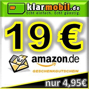 klarmobil SIM-Karte + 19,00€ AMAZON Gutschein kostenlos / gratis