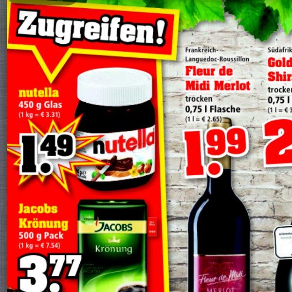 [Offline] Nutella 450g für 1,49€ bei trinkgut (nur noch heute)