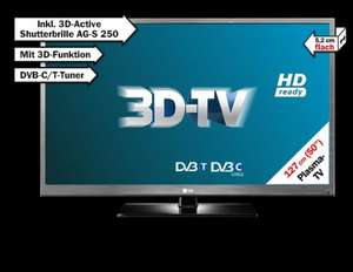 Media Markt - 3D Plasma - LG 50PW451 Inkl. 3D Active Shutterbrille AG-S 250