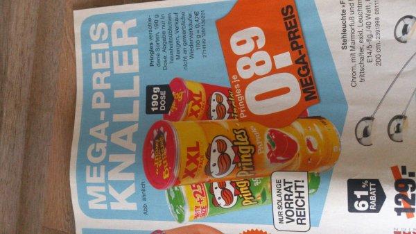 Pringles 190 g Dose für 0,89 Euro bei Segmüller (Weiterstadt)